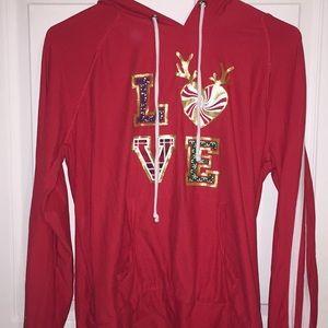 """""""LOVE"""" christmas hoodie"""